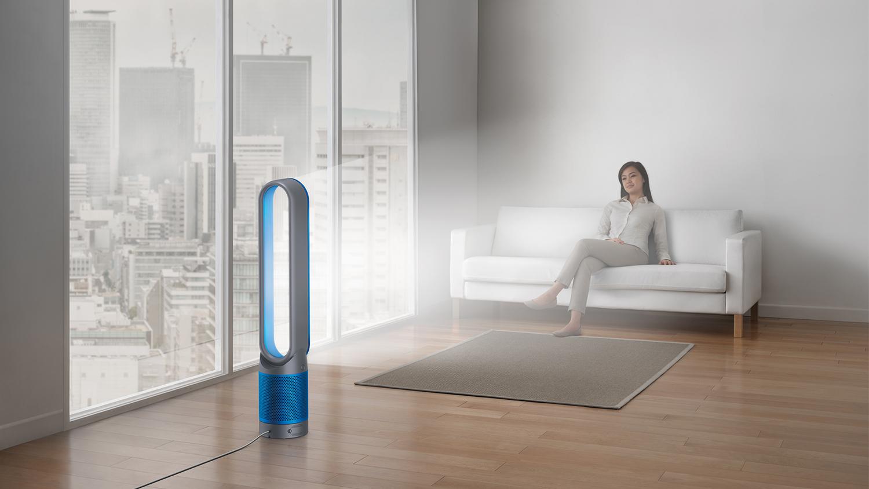 Auch bei Hitze cool bleiben. 70 € auf den Dyson Stand-Luftreiniger in Blau sparen