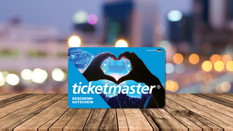 Ticketmaster - 10% mit der Gutscheinkarte sparen