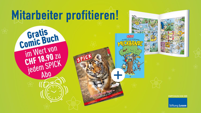 SPICK Abo mit gratis Meckbande Comic-Buch