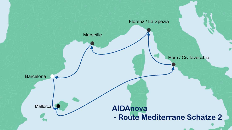 Traumhafte AIDAnova- Kombi-Reise mit 7 % Rückvergütung